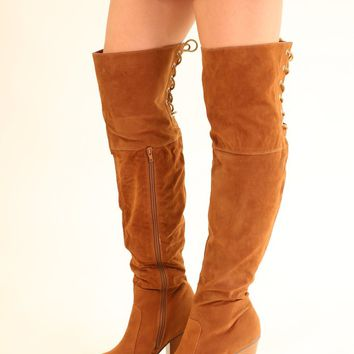 OTK LACE UP BOOTS - CHESNUT