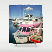 Colourful Boat Shower Curtain by Chris' Landscape Images of Australia   Society6