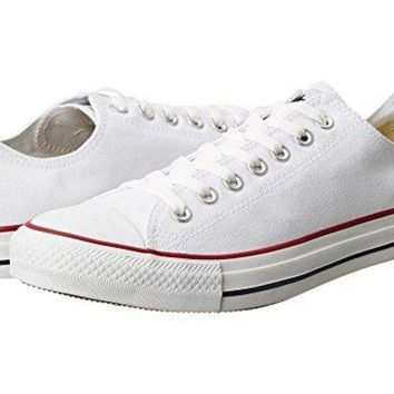 LMFON Converse All Star Chuck Taylor Sneakers (10 B(M) US Women / 8 D(M) US Men, Optical White)