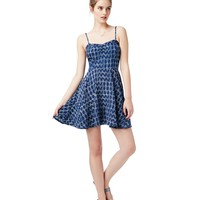Aeropostale  Womens Sleeveless Geo Print Dress - Blue, X-Small
