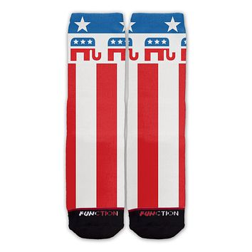 Function - Republican Elephant American Flag Fashion Socks