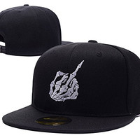 XINMEN Skull Middle Finger Logo Adjustable Snapback Embroidery Hats Caps