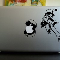 Apple Macbook Vinyl Decal Sticker - Ash Pokemon