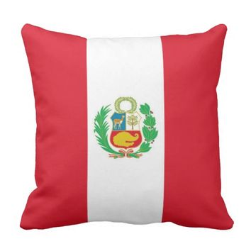 Peruvian Flag on American MoJo Pillow