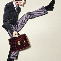Ministry of Silly Walks John Cleese Articulated Paper Doll - Monty Python Lovers