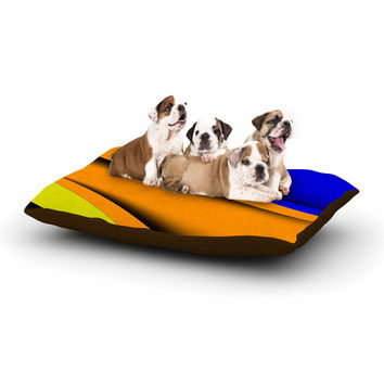 "Fotios Pavlopoulos ""Colorful Flow"" Abstract Digital Dog Bed"