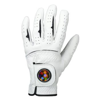 Multicolored Christmas lights. Golf Glove