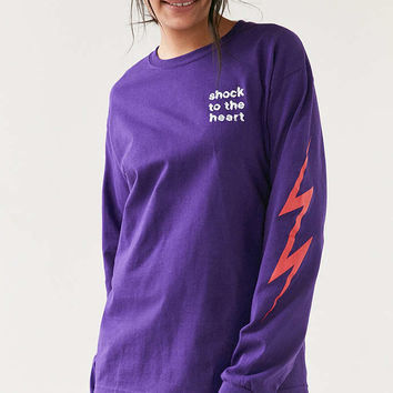 Altru Apparel Shock To The Heart Long-Sleeve Tee - Urban Outfitters
