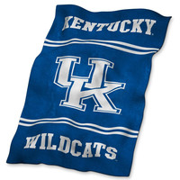 Kentucky Wildcats NCAA UltraSoft Fleece Throw Blanket (84in x 54in)
