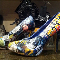 New Star Wars High Heels Size 6 7 8 9 Comicon fashion shoes Jedi style pumps Can do custom any size