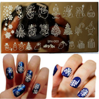 1Pcs Amazing DIY Halloween Nail Art Ideas Nail Art Stamp Template Image Plate DIY Easy Christmas Nail Art Stamping Tools WJ113