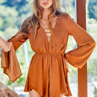Moana Playsuit Caramel