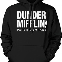 Dunder Mifflin Paper Inc Sweatshirt, The Office Hoodies, TV show Sweatshirts, Large, Black