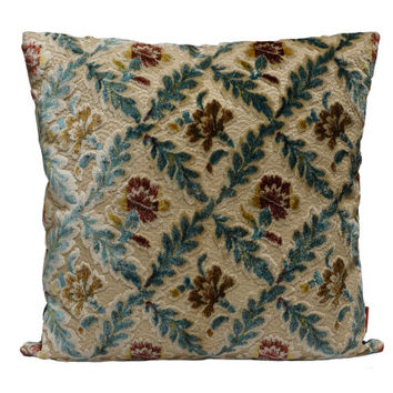 Velvet Pillow - 20x20 - decorative pillow cover made from vintage upholstery fabrics by EllaOsix - 50x50