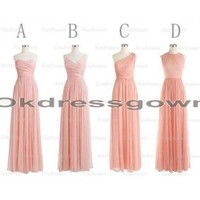 peach bridesmaid dresses, long bridesmaid dresses, mismatched bridesmaid dresses, cheap bridesmaid dresses, simple bridesmaid dresses, chiffon bridesmaid dress, custom bridesmaid dresses