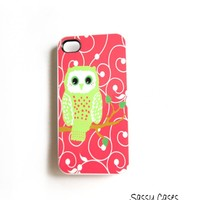 IPhone 4/4S Case Mint And Coral Owl.. on Luulla
