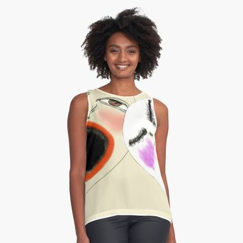 "'""etching 50 - separated at birth"" Apple Pencil drawing' Contrast Tank by BillOwenArt"