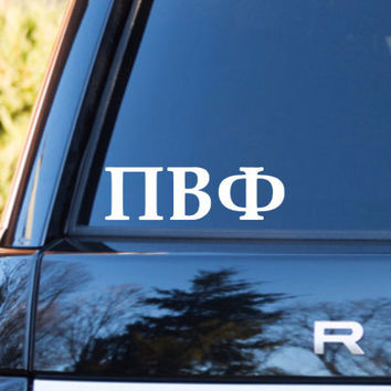 Pi Beta Phi Car Decal | Pi Beta Phi Car Sticker | Pi Beta Phi Sorority | Pi Beta Phi Laptop Decal | Greek Car Decal| Greek Car Sticker | 169