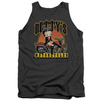 BOOP/BETTY'S MOTORCYCLES - ADULT TANK - CHARCOAL -