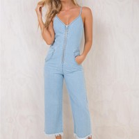 Minkpink Verge Cropped Zip Up Jumpsuit