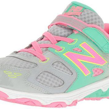 ONETOW new balance ka680 youth running shoe little kid big kid grey pink lt green little kid 4 8 years 10 5 m us little kid