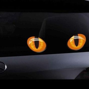 LMFUG3 Cute Pretty Cat Eyes Vinyl Car Sticker Decal For Car Window Truck Bumper Laptop Locker Glass (Size: L, Color: Multicolor)
