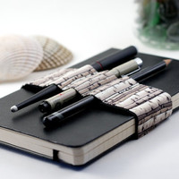 Journal Bandolier / Travel light, Draw often / Birches