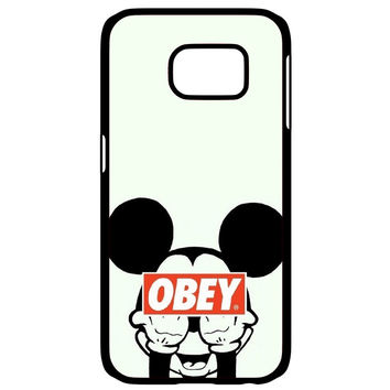 Mickey Mouse Obey Samsung Galaxy S6 Edge Case