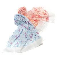 Bright Block Printed Cotton Scarves - Global Goods Partners