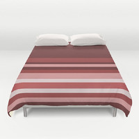 Maroon Stripes Duvet Cover Stripes Duvet Cover Shades of Red Duvet Cover Pink Stripe Duvet Cover Striped Bedding Striped Duvet Cover Pantone