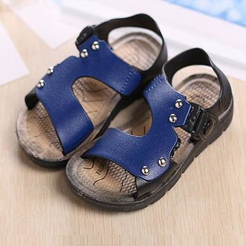 2017 Summer Children Shoes Girls Boys Sandals Fashion Rivet Non-Slip Children Sandals Boys Shoes Baby Beach Sandals Kids Shoes