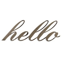 Letter2Word Hand Painted Hello 3D Wall Sculpture - Nickel
