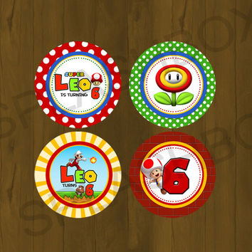 Super Mario Printable Cupcake Wrappers - Super Mario Bros Printable  Cupcake Wrappers