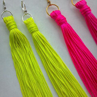 Spring Trend Boho Chic NEON Fringe Statement by MYCACouture