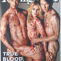 "True Blood Rolling Stone Cover Poster Large 26""x36"" Skarsgard, Moyer, Paquin"