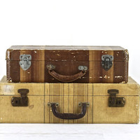 Suitcase, Stack Of Two Suitcases, Suitcases Luggage, Old Suitcase Stack, Vintage Suitcase, Stacked Suitcases, Luggage