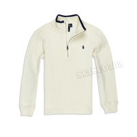Polo Ralph Lauren Zip Neck Sweater Ivory Off White
