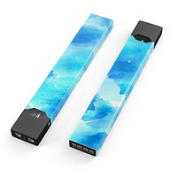 Skin Decal Kit for the Pax JUUL - Abstract Blue Stroked Watercolour