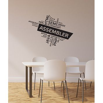 Vinyl Wall Decal Programming Languages Programmer Room Geek Stickers Mural (ig5975)