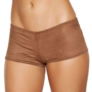 Roma Costume Sh224 Brown Suede Boy Shorts
