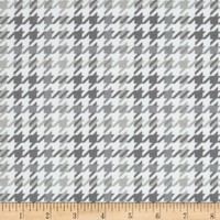 Cozy Cotton Flannel Houndstooth Grey