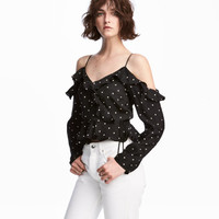 Open-shoulder Blouse - from H&M