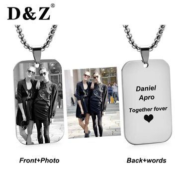 D&Z PERSONALIZED PHOTO PENDANT Custom Necklace Stainless Steel Photo of Your Baby Child Grandparent Loved Gift for Family Member