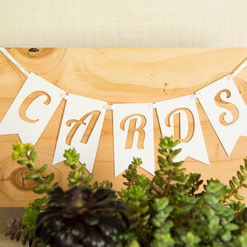 Cards Banner, Rustic Wedding Banner, Wedding Banners and Signs, Cards Sign
