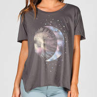 Cae + Jae Moon & Stars Womens Tee Charcoal  In Sizes