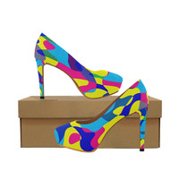Colorful chaos Women's High Heels (Model 044) | ID: D1968240
