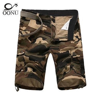 OONU Promotion Quality-guaranteed Military Camouflage/Camo Men Shorts Casual Multicam Bermuda Military Cargo Shorts