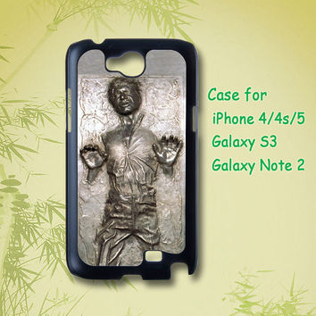 Han solo frozen - Samsung Galaxy S3 Case Cute Case Of Samsung Galaxy note 2 case iPhone 4 Case iPhone 5 Case