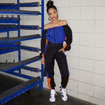 Patchwork Track Pants