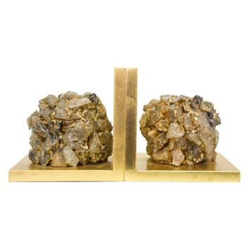 Couture Lamps Astoria Quartz Bookend Set of 2